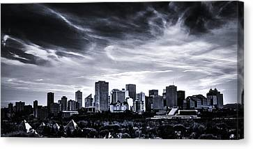 Black And White Skyline Canvas Print by Ian MacDonald