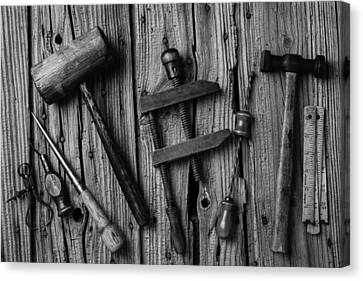 Black And White Tools Canvas Print by Garry Gay