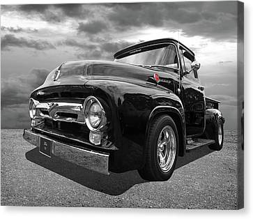 Black Beauty - 1956 Ford F100 Canvas Print by Gill Billington