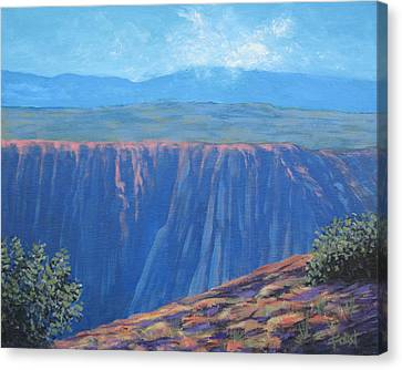 Black Canyon Of The Gunnison Canvas Print by Gene Foust