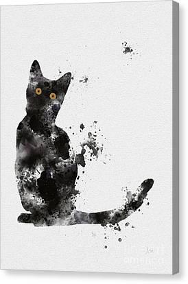 Black Cat Canvas Print by Rebecca Jenkins