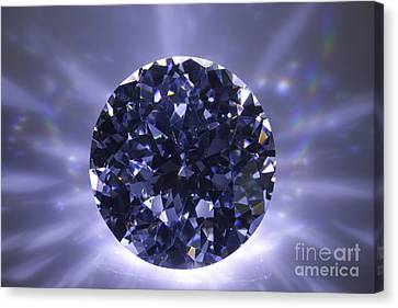 Black Diamond Shine Aura. Canvas Print by Atiketta Sangasaeng