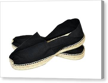 Black Espadrilles Canvas Print by Dutourdumonde Photography