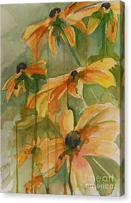 Black Eyed Susans Canvas Print by Gretchen Bjornson