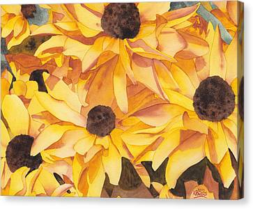 Black Eyed Susans Canvas Print by Ken Powers