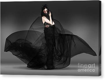 Black Fashion The Dark Movement In Motion Canvas Print by Jorgo Photography - Wall Art Gallery