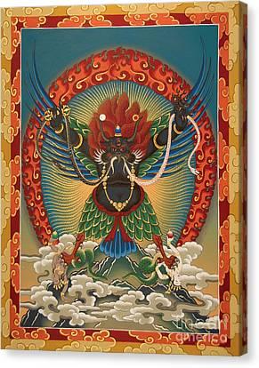 Black Garuda - Tsasum Tersar Canvas Print by Sergey Noskov