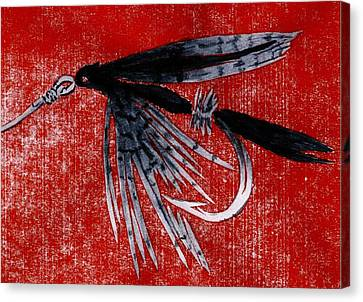 Black Gnat Wet Fly Canvas Print by Robert Fagg