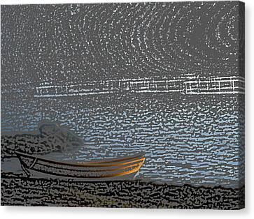 Black Harbour Nb Canvas Print by Roger Charlebois