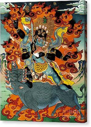 Black Hayagriva Canvas Print by Sergey Noskov