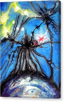 Black Hole Eating Itself Canvas Print by Sofia Goldberg