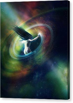Black Hole Canvas Print by Mary Hood