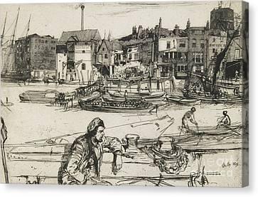 Black Lion Wharf Canvas Print by James Abbott McNeill Whistler