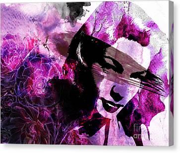 Black Magic Women Canvas Print by Ramneek Narang