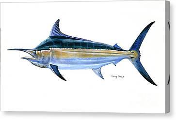 Black Marlin  Canvas Print by Carey Chen