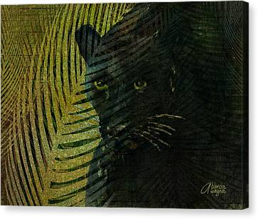 Black Panther Canvas Print by Arline Wagner