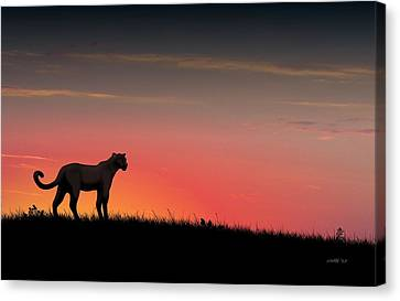 Black Panther Canvas Print by John Wills