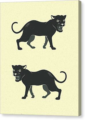 Black Panthers Canvas Print by Jazzberry Blue