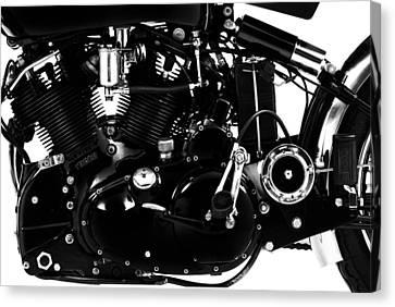 Black Shadow 988cc Canvas Print by Mark Rogan