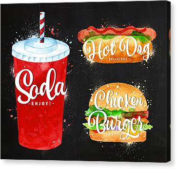 Black Soda Canvas Print by Aloke Design