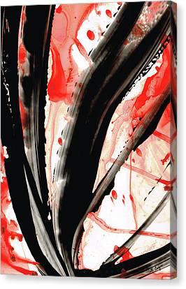 Black White Red Art - Tango 2 - Sharon Cummings Canvas Print by Sharon Cummings