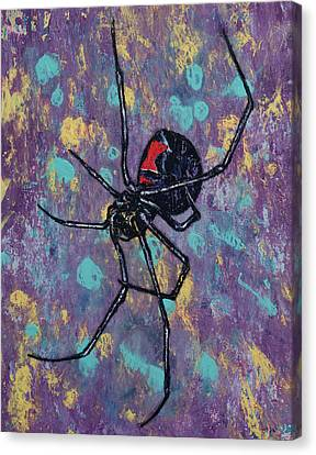 Black Widow Canvas Print by Michael Creese