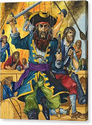 Blackbeard Canvas Print by Richard Hook