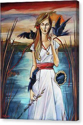 Blackbird Canvas Print by Jacque Hudson