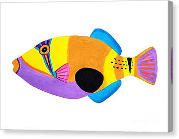 Blackpatch Triggerfish  Canvas Print by Opas Chotiphantawanon