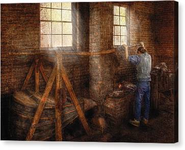 Blacksmith - It's Getting Hot In Here Canvas Print by Mike Savad