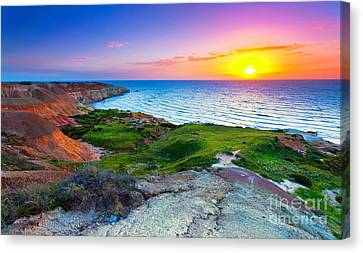 Blanche Point Sunset Canvas Print by Bill  Robinson