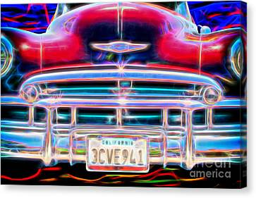 Blazing Chevy Canvas Print by Mariola Bitner
