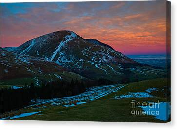 Blencathra-winter Sunset Canvas Print by John Collier