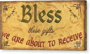 Bless These Gifts Canvas Print by Debbie DeWitt