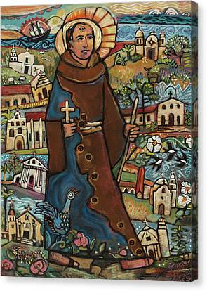 Blessed Junipero Serra Canvas Print by Jen Norton