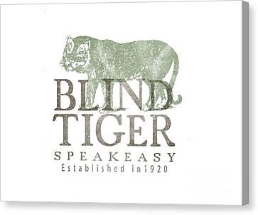 Blind Tiger Speakeasy Tee Canvas Print by Edward Fielding