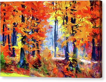 Blissful Autumn Impressionism Canvas Print by Georgiana Romanovna