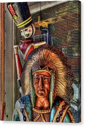 Block Heads Canvas Print by Joetta West
