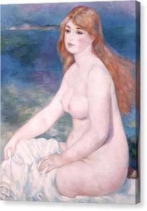 Blonde Bather II Canvas Print by Renoir