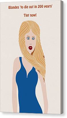 Blondes To Die Out In 200 Years Canvas Print by Frank Tschakert