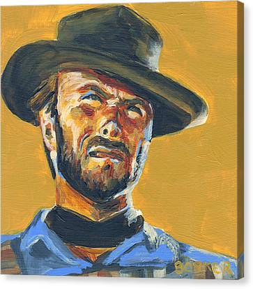 Blondie      The Good The Bad And The Ugly Canvas Print by Buffalo Bonker