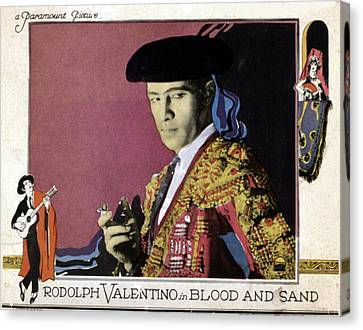 Blood And Sand, Rudolph Valentino, 1922 Canvas Print by Everett
