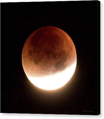 Blood Moon Eclipse Canvas Print by Wim Lanclus