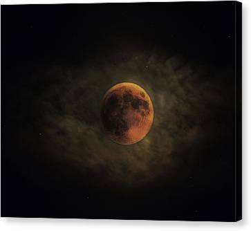 Blood Moon Canvas Print by Ron  McGinnis