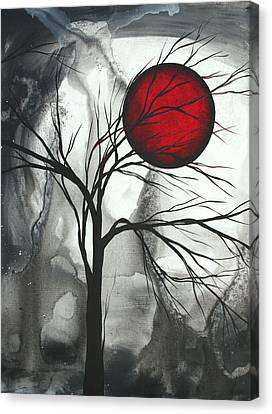 Blood Of The Moon 2 By Madart Canvas Print by Megan Duncanson