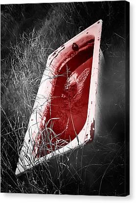 Bloody Bathtub Canvas Print by Wim Lanclus