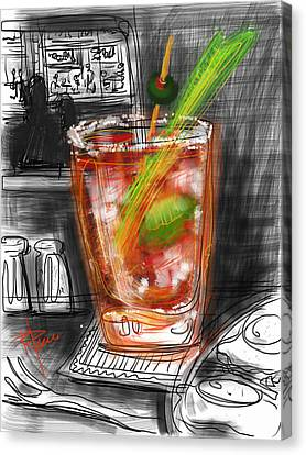 Bloody Mary Canvas Print by Russell Pierce
