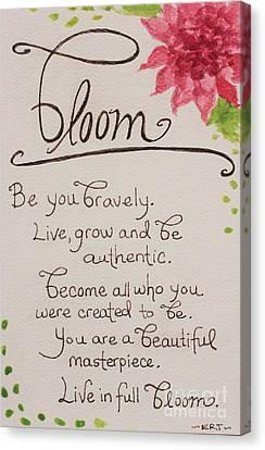 Bloom Canvas Print by Elizabeth Robinette Tyndall