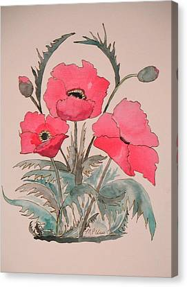 Bloomin Poppies Canvas Print by Maria Urso