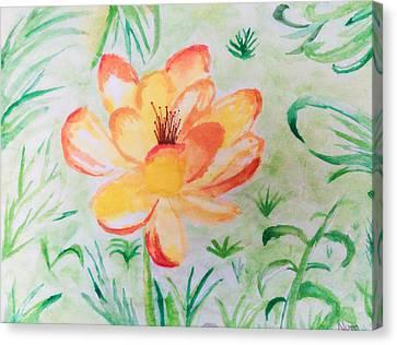 Blooming Flower Canvas Print by Nura Abuosba